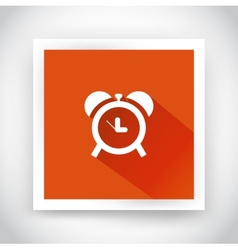 Icon of alarm clock for web and mobile vector image vector image