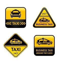 Taxi cab set labels vector image