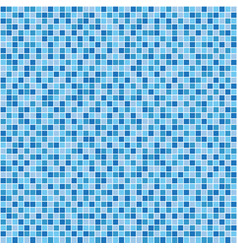 blue mosaic tile seamless pattern vector image