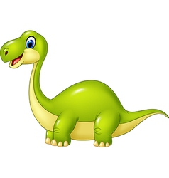 Cartoon green dinosaur isolated vector image vector image