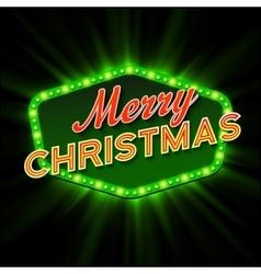 Merry Christmas Lights Frames vector image