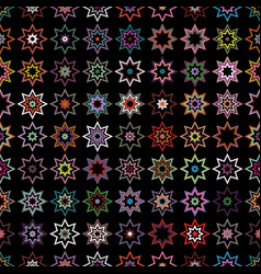 seamless background of stars vector image