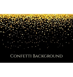 Christmas gold glitter confetti horizontal pattern vector image vector image