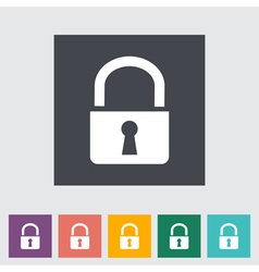 Lock single icon vector image vector image