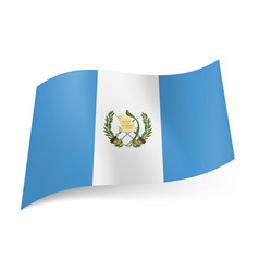 national flag of guatemala white stripe with coat vector image vector image