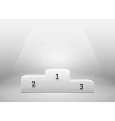 Pedestal for winners podium on white vector image vector image