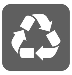Recycle Flat Squared Icon vector image