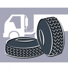 rubber tyres vector image vector image