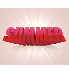 3D word SUMMER background vector image