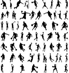 61 basketball players vector image
