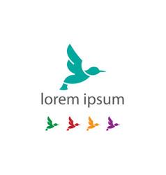 abstract bird logo design template creative dove vector image