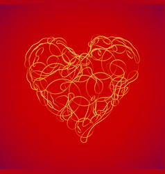 abstract love heart vector image