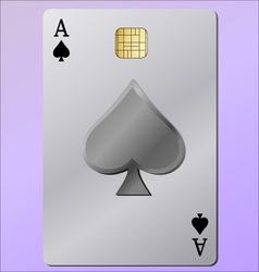 ace as a credit card vector image