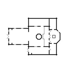 Architectural plan christian orthodox church vector