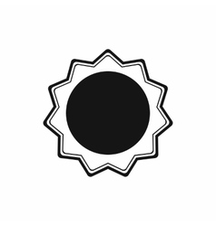Award rosette icon in simple style vector image
