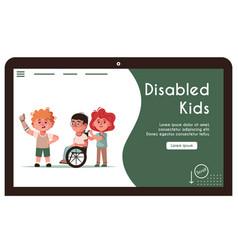 Banner disabled kids vector