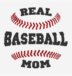 Baseball mom typography vector