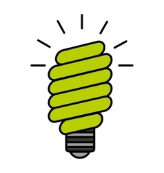 Bulb saver green icon vector