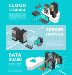 business data protection network equipment vector image