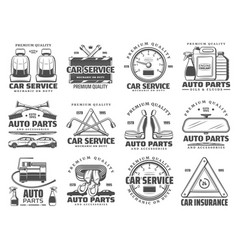 car diagnostics service auto repair spare parts vector image