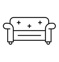 chair sofa icon outline style vector image