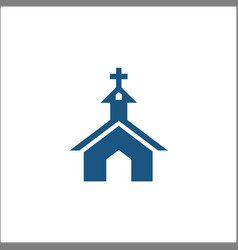 church icon in flat style isolated logo vector image