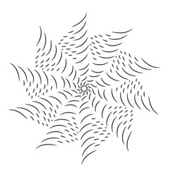 circular black and white line pattern vector image