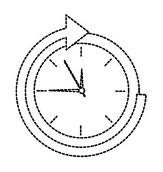 clock with arrow time icon image vector image