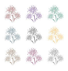 colorful fireworks icon in black style isolated on vector image