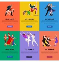 Couple dancing modern dance vector