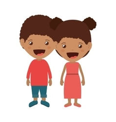 Couple of kids smiling vector