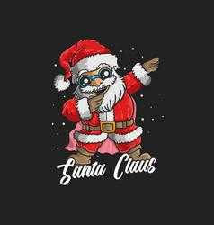 cute santa claus dabbing dance vector image
