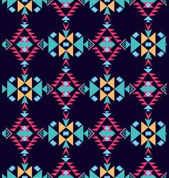 Decorative tribal geometric seamless pattern vector