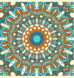 detailed mandala design background vector image