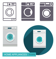 Dishwasher icons vector
