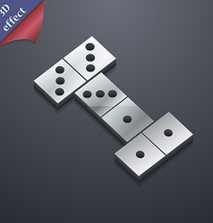 Domino icon symbol 3D style Trendy modern design vector