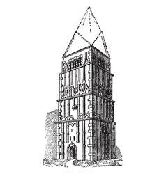 earls barton church famous icon vintage engraving vector image