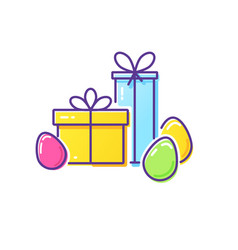 easter logo vector image
