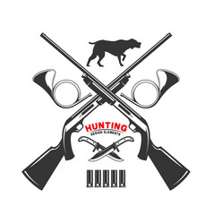 emblem template duck hunting club emblem with vector image