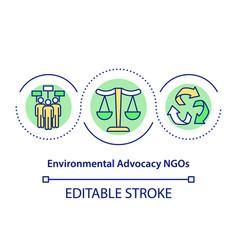 Environmental advocacy ngos concept icon vector