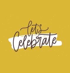 Festive postcard or birthday party invitation vector
