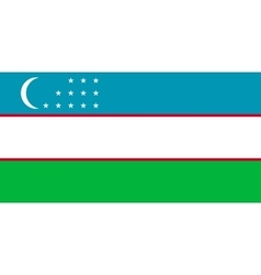 Flag of Uzbekistan correct proportions and colors vector image