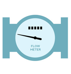 Flow meter flat on white vector