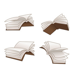 flying books vector image