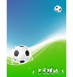 football background for your design vector image
