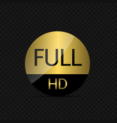 full hd label vector image