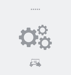 gear flat single icon vector image