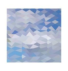 Grey ocean wave abstract low polygon background vector