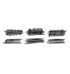 hand drawn set of objects for design use black vector image