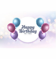 Happy birthday to you greeting card design vector